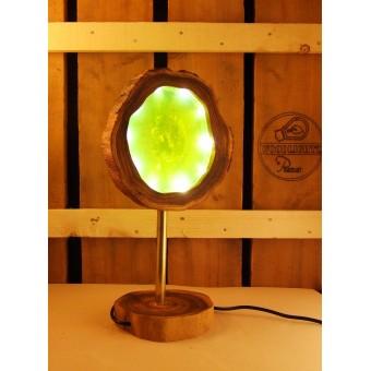 Lamp groen van acacia met ingegoten ledverlichting | Woodlightz