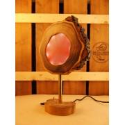Lamp van acacia met ingegoten ledverlichting Lila | Woodlightz