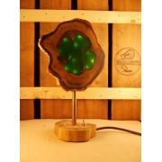 Natuurlijke houten lamp Woodlightz lamp klavertje 4