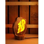 Natuurlijke houten lamp Woodlightz lamp Eekhoorn