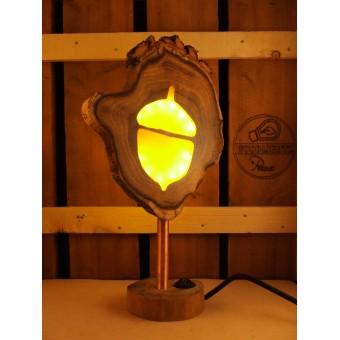 Natuurlijke houten lamp Woodlightz lamp Eikel