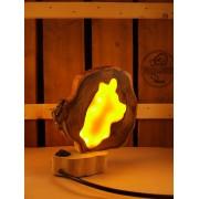 Natuurlijke houten lamp Woodlightz lamp geel amber beer