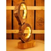 Lamp acacia met LED-verlichting natuurdesign | Woodlightz