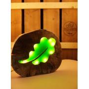Natuurlijke houten lamp Woodlightz lamp eikenblad | Woodlightz