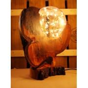 Robuuste lamp uit kersenhout, drijfhout, boomstam | Woodlightz