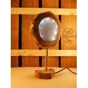 Lamp van acacia met ingegoten ledverlichting  blauw wit | Woodlightz