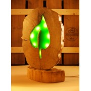 Robuuste lamp uit berkenhout met LED verlichting | Woodlightz